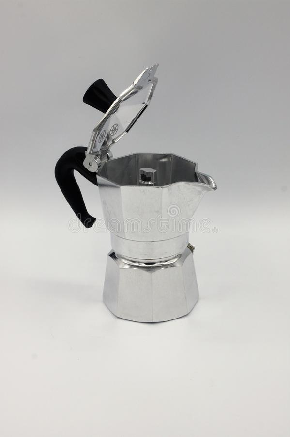 stainless steel caffee pot royalty free stock images