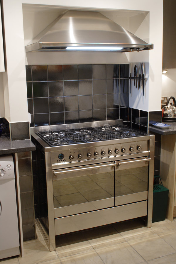 Stainless Steel Cooker Stock Photo