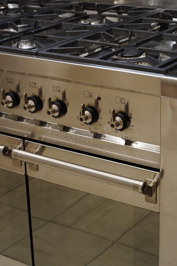 Download Stainless steel cooker stock photo. Image of burner, control - 1436554