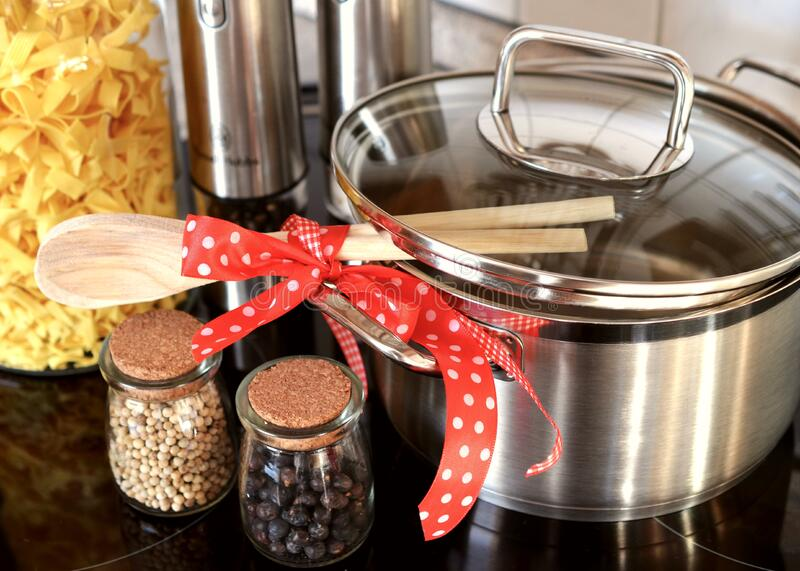 Stainless Steel Cooking Pot Half Opened Free Public Domain Cc0 Image