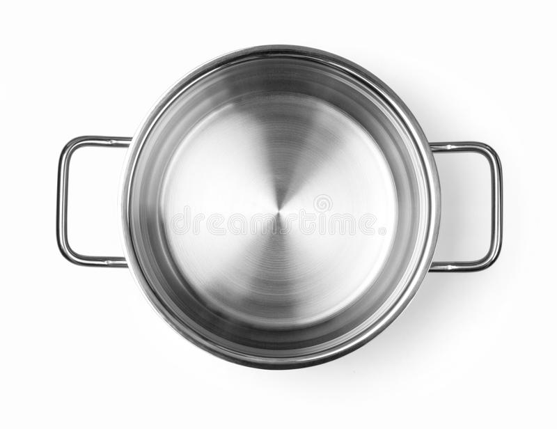 Stainless steel cooking pot royalty free stock photos
