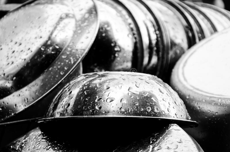 Stainless steel cup. stock photography