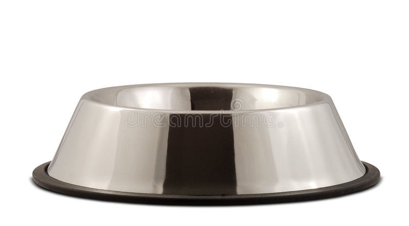 Stainless Steel Dog Bowl royalty free stock images