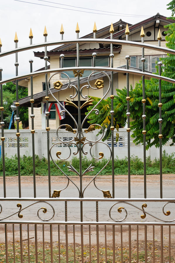 Stainless Steel door. royalty free stock image