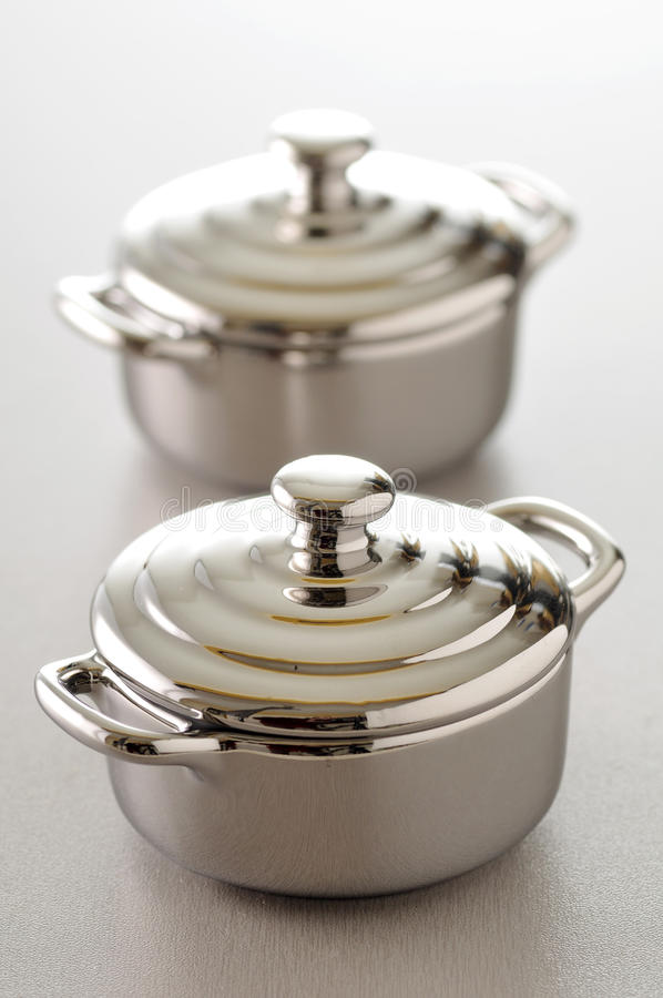 Download Stainless Steel Individual Cooking Pots Stock Photo - Image: 23703216