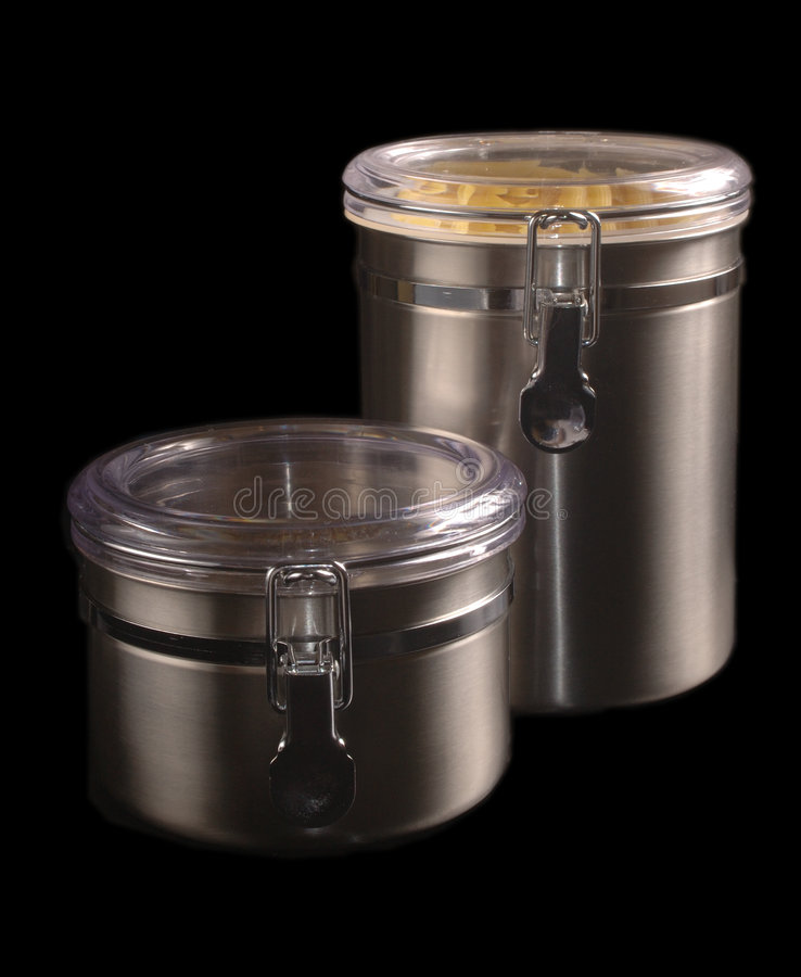Download Stainless Steel Kitchen Containers Stock Image - Image: 182841