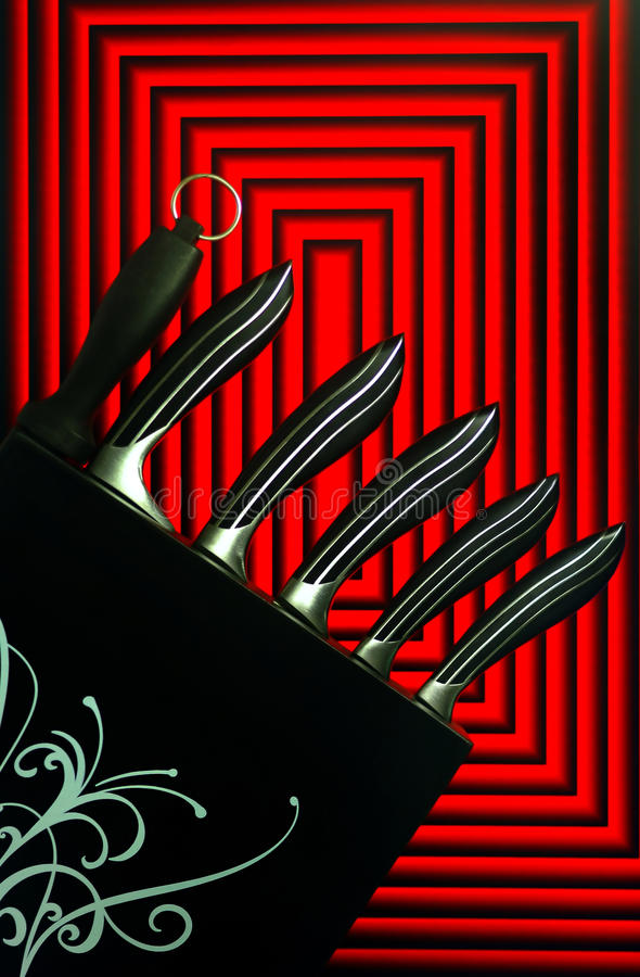 Download Stainless Steel Kitchen Knives Graphic Design Stock Photo - Image of cutlery, curves: 16112674