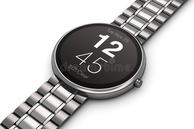 Stainless Steel Luxury Smartwatch Stock Illustration ...