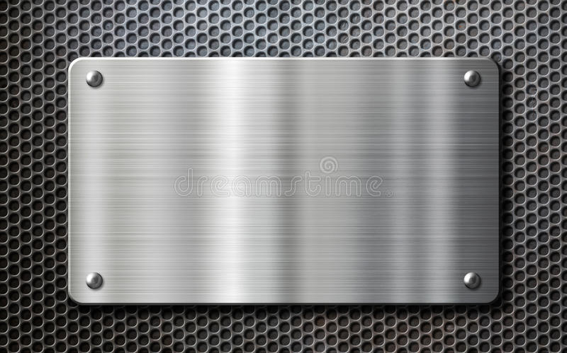 Stainless steel metal plate background stock photos