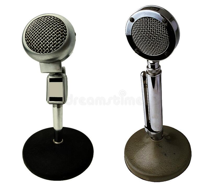 Stainless Steel Microphone stock photography