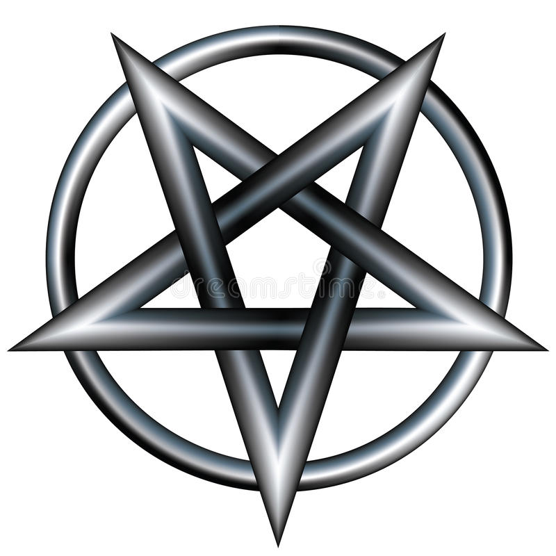 Download Stainless steel pentagram stock vector. Image of insignia - 9751268