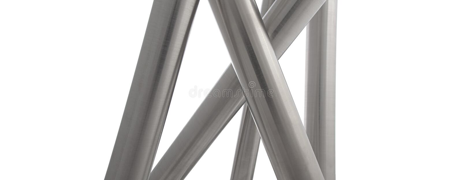 Download Stainless Steel Pipes Vertical Isolated Stock Photo - Image: 20574326