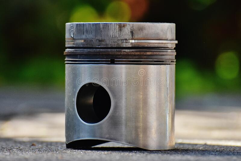 Stainless Steel Piston stock image