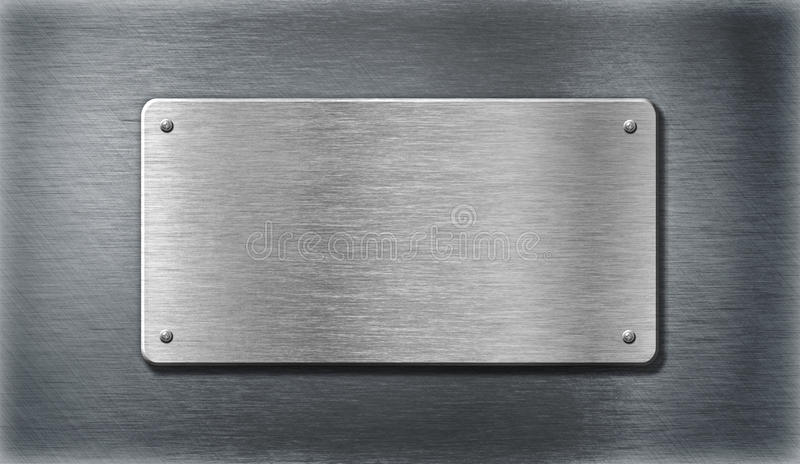 Stainless steel silver metal plates stock photo image of - Placa de acero inoxidable ...