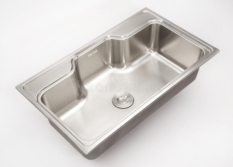 Download Stainless steel sink stock photo. Image of steel, shape - 30980624