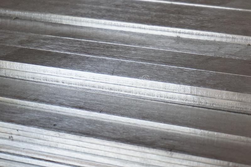 Stainless steel slat 5. Mix of stainless steel slat in warehouse stock photography