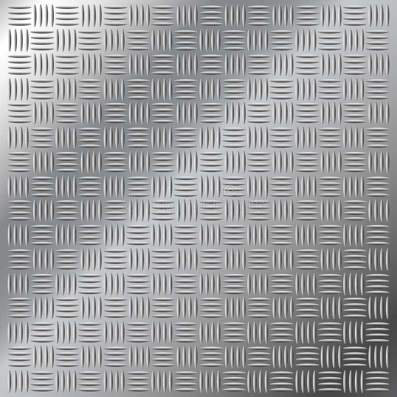 Free Stainless Steel Small Cross Hatch Tread Pattern Royalty Free Stock Photo - 8530565