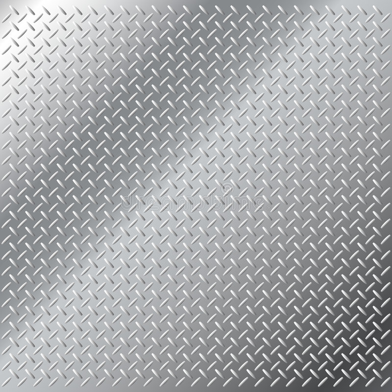 Free Stainless Steel Small Diamond Tread Pattern Royalty Free Stock Photos - 8530558
