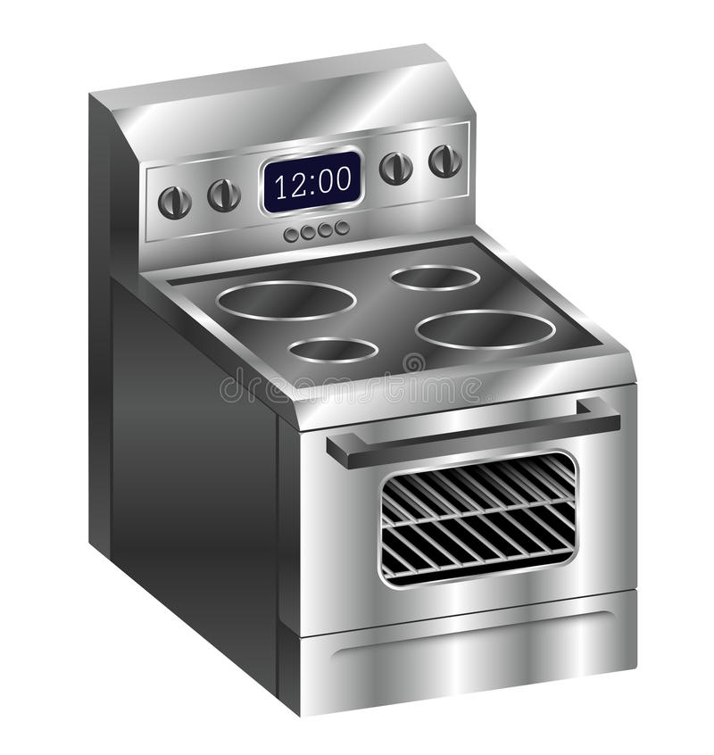 Download Stainless Steel Stove stock vector. Image of appliance - 30991515