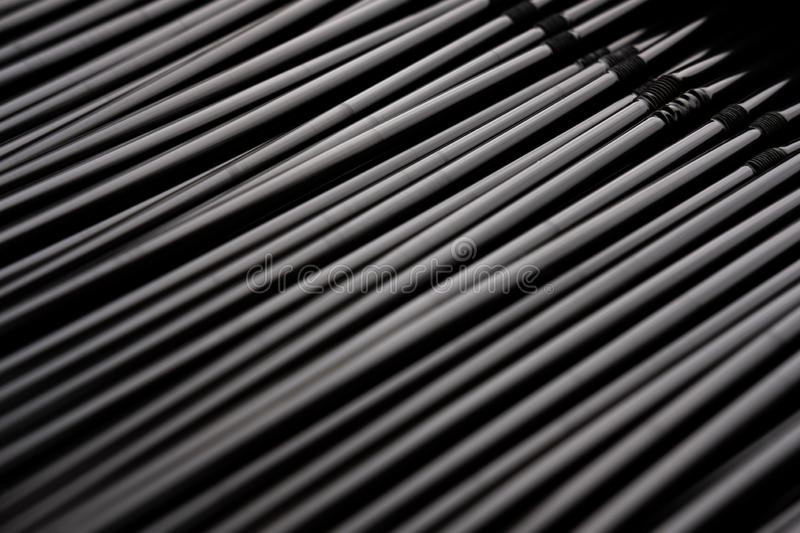 Stainless steel straws vertical abstract background stock images