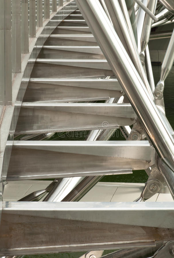 Stainless Steel Structure. A portrait of stainless steel structure tightening royalty free stock photos
