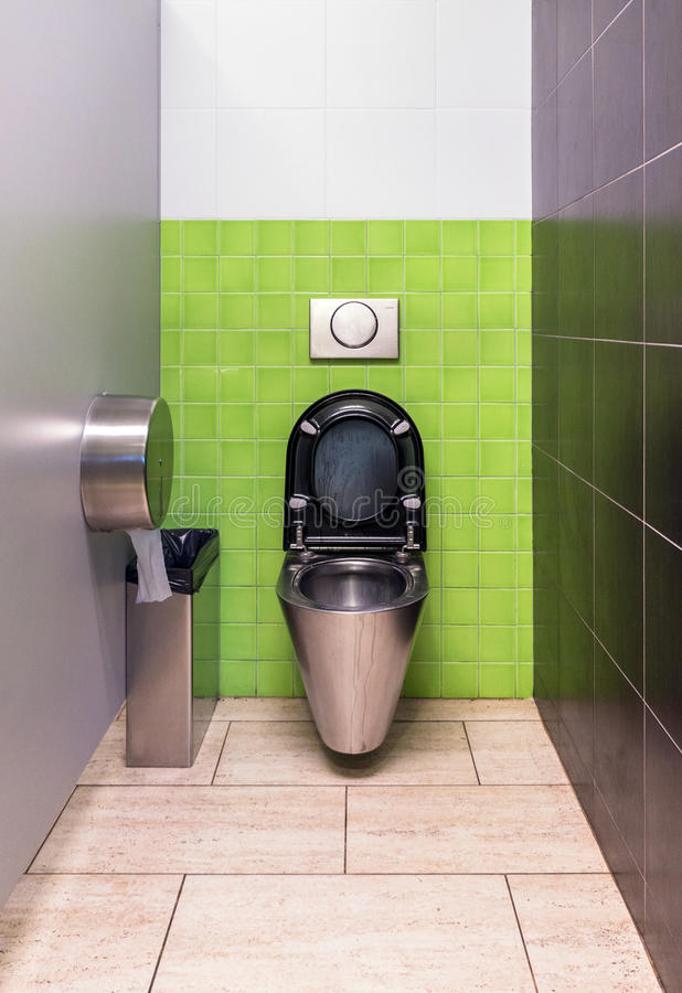 Download Stainless steel toilet stock image. Image of seat, light - 35500117