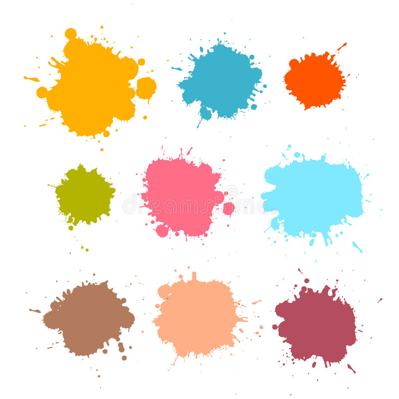 Download Stains, Blots, Splashes Set Stock Vector - Illustration of drawing, dribble: 36432567