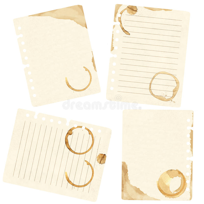 Download Stains Of Coffee On Sheets Of Paper Stock Photo - Image: 14008650