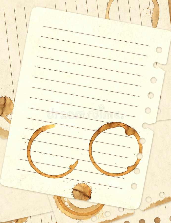 Download Stains Of Coffee On Sheets Of Paper Stock Illustration - Image: 16468962