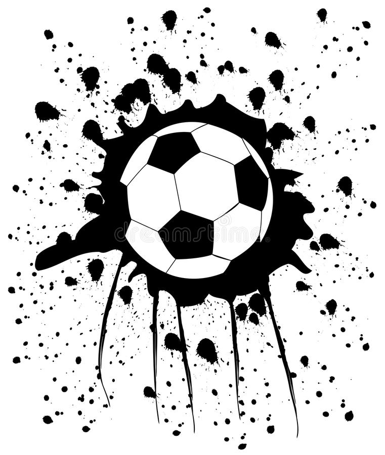 Stains from football. Vector art illustration of the concept of football stock illustration