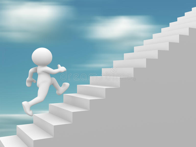 Download Stair stock illustration. Image of hope, character, human - 20834157