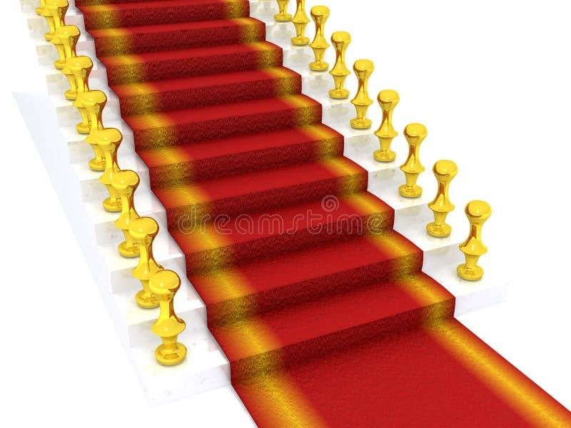 Stair. White stair. 3d on white vector illustration