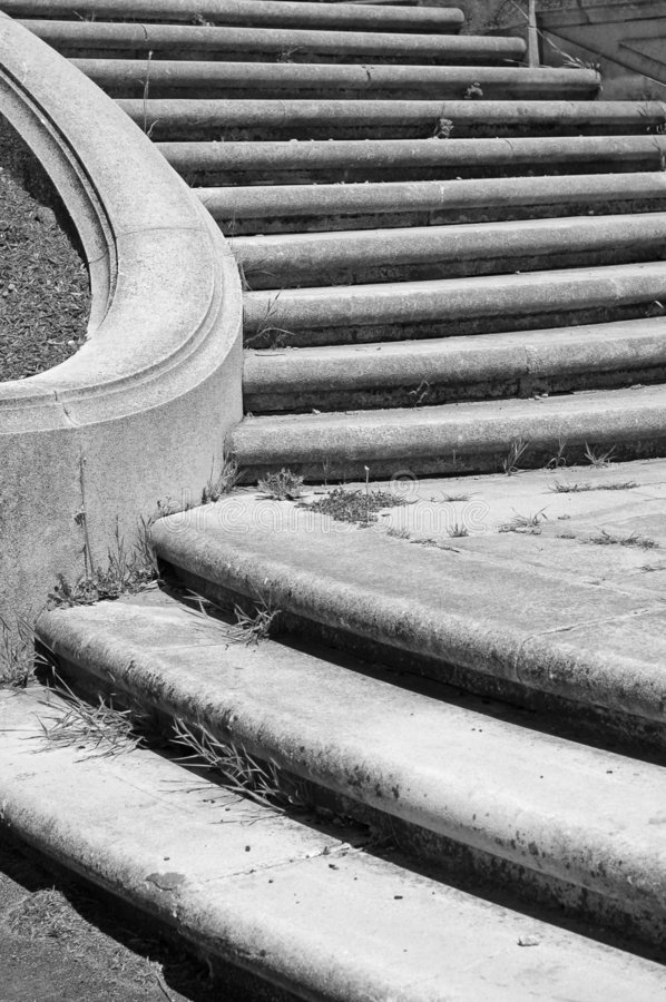 Stair in B&W stock image