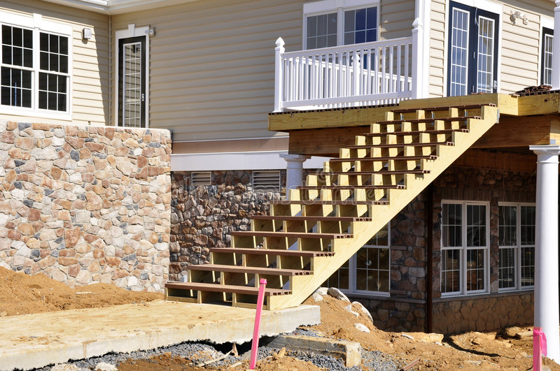 Download Stair Construction Stock Photo. Image Of Frame, Wooden   8243326