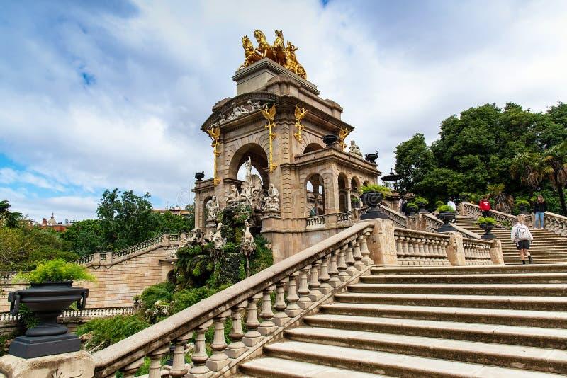 Stair of fountain in a Parc de la Ciutadella, Barcelona, Spain. May 13, 2018 royalty free stock photos