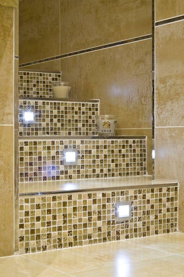 Stair in a modern bathroom stock photo