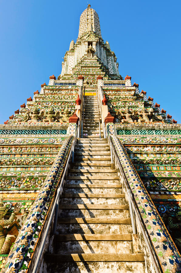 Free Stair Of Pagoda In The Temple In Thailand Stock Image - 22452271