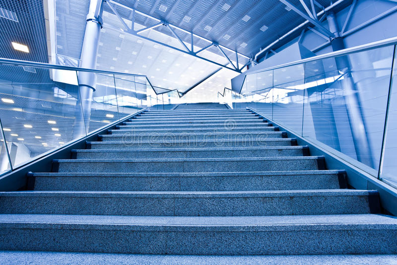 Stair in office centre. Stair with steps in office centre royalty free stock photo