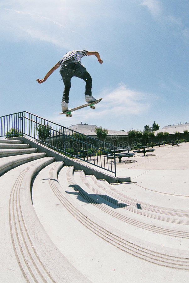 Download Stair Ollie stock photo. Image of teen, extreme, skate - 454144