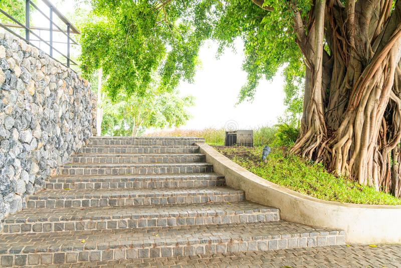 stair step with rock tile royalty free stock photos