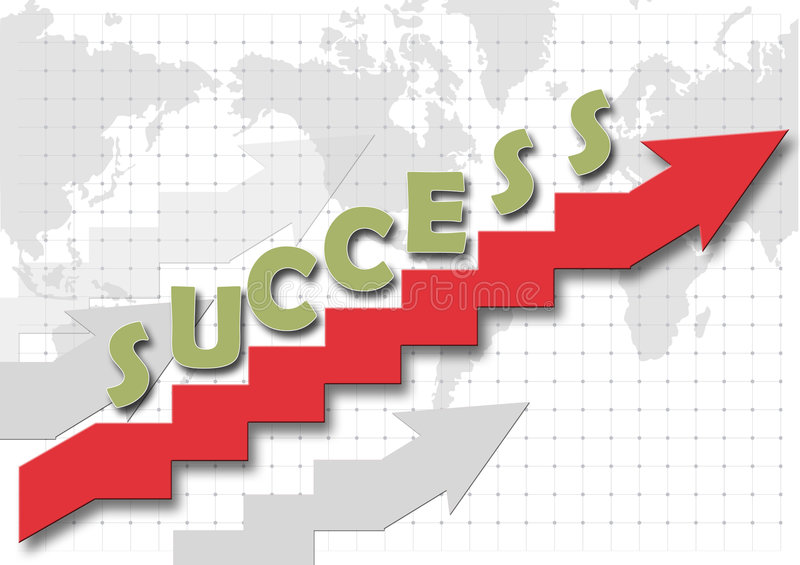 Stair of the succes stock illustration
