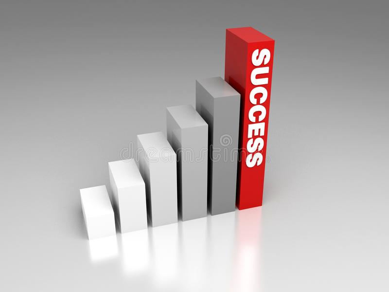 Stair of success royalty free stock photo