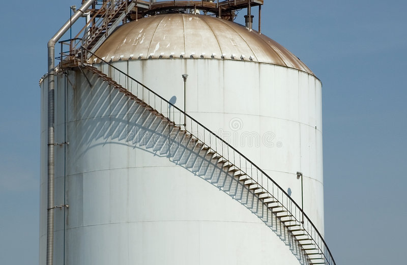 Download Stair on Tank with Shadow stock image. Image of industrial - 100379