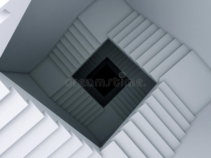 A Stair To The Infinity. Stock Photo