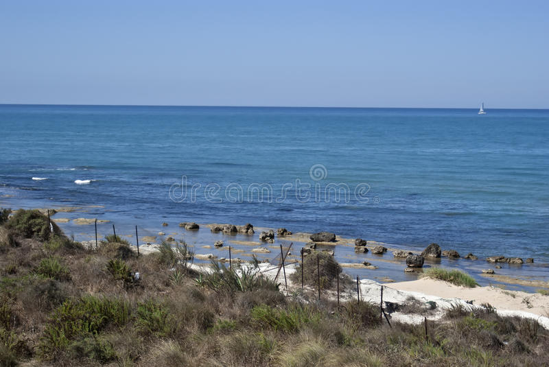 Stair Of The Turkish Beach.Agrigento Stock Image
