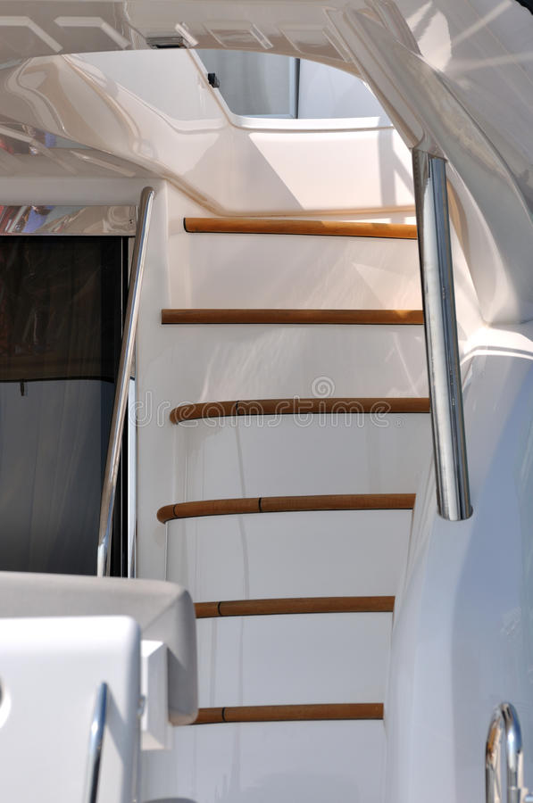 Stair in yacht stock image