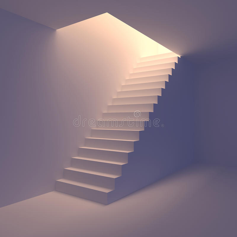 Download Staircase stock illustration. Image of future, follow - 23588426