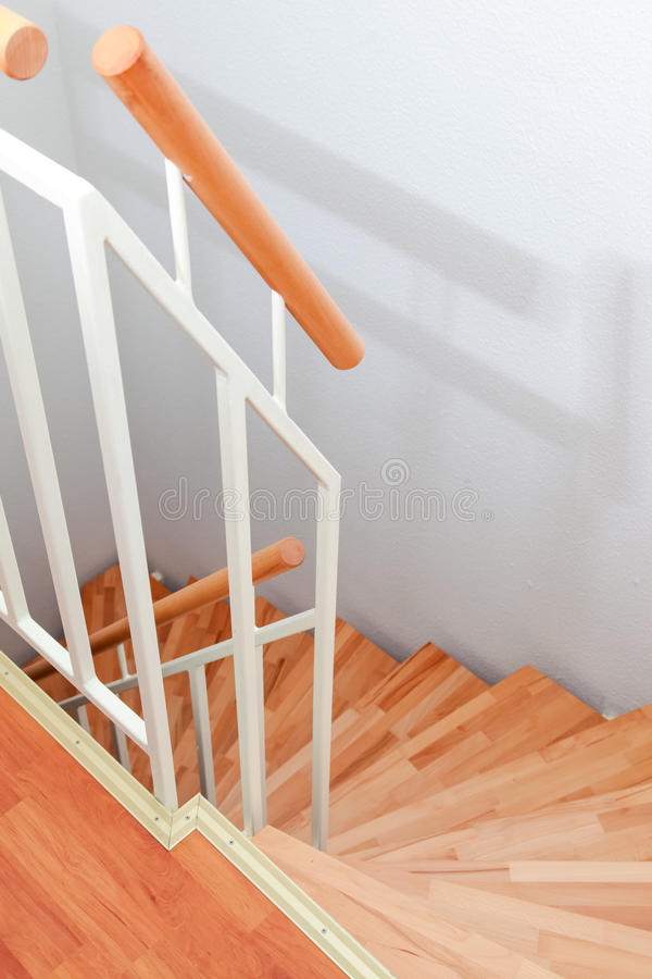 Staircase. In modern family house royalty free stock photo