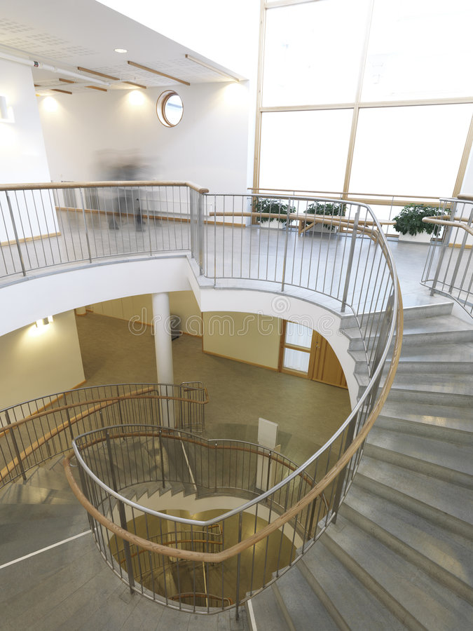 Staircase. Architecturial Staircase in modern building stock photo