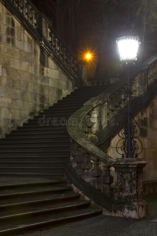 Free Staircase At Night Stock Image - 24055741
